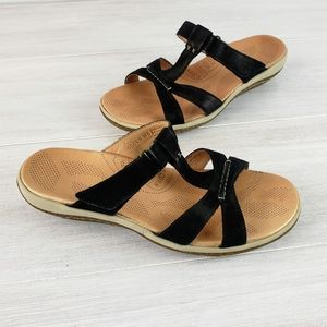 Acorn C2G Lite T Strap Black Sandals  NWOT